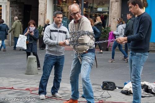 Edimburgo in settembre, artisti di strada