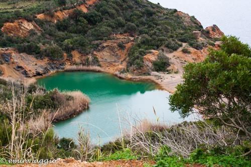 isola d'Elba laghetto di terra nera