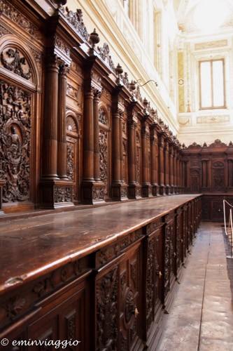 san benedetto po coro ligneo nella cattedrale