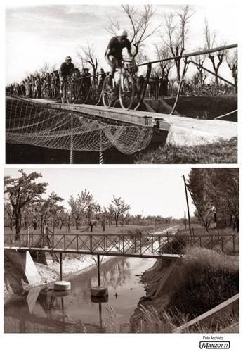 Correggio via Carletti il ponte sulla vdagna