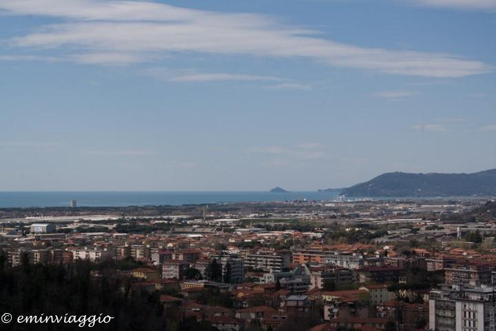 Toscana, Massa, panorama dal castello