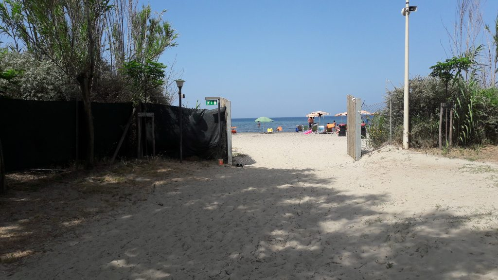 campeggio in riva al mare