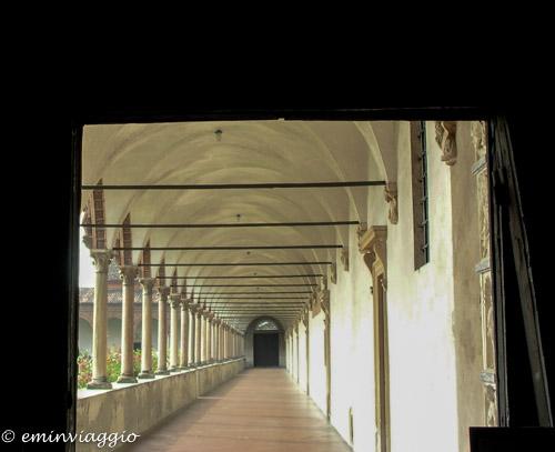 Certosa di Pavia il chiostro