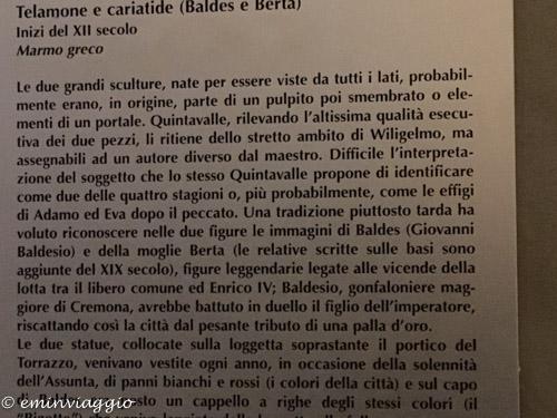 Cremona la storia di Baldes e Berta