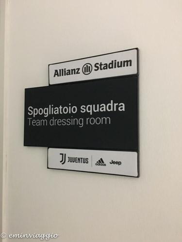 Juventus Stadium ingresso agli spogliatoi