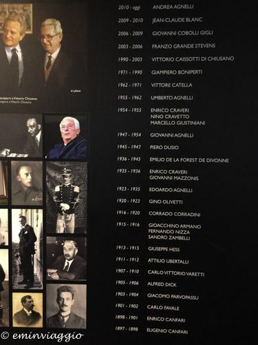 Juventus Stadium i Presidenti della squadra