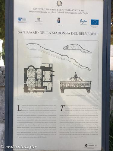 Alto Salento schema delle grotte del Santuario di Belvedere